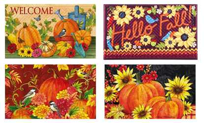Shop Groupon Fall Themed Embossed Door Mat