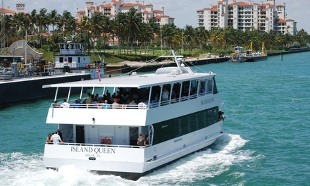 90-Minute Millionaires Row Sightseeing Cruise for One, Two, or Four from Island Queen Cruises (Up to 21% Off)