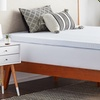 """Lucid 2.5"""" Gel-Infused Memory-Foam Mattress Topper with Tencel Cover"""