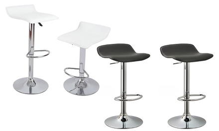 Contemporary Adjustable Barstool Set (2-Piece)