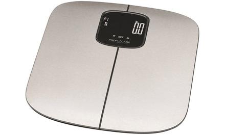 Pèse personne 7en1 ProfiCare électronique en acier inoxydable pour analyse de poids, pourcentage de graisse corporelle