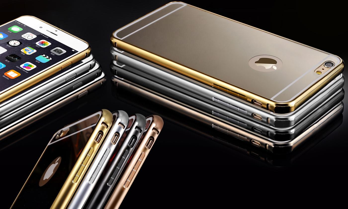 Aluminium Mirror Metal Case for iPhone