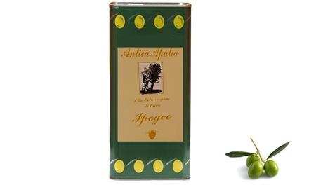 Fino a 15 litri di olio extravergine di oliva Antica Apulia 100% italiano