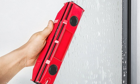 Limpiador de ventanas magnético individual, doble o triple