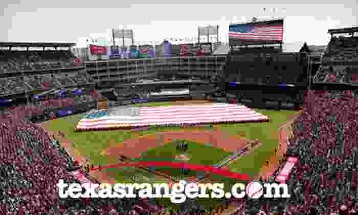 Texas Rangers  - Arlington: Texas Rangers Game at Rangers Ballpark (Up to 38% Off). Seven Options Available.