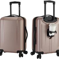 Kensie 20in Victoria USB Port & Cup Holder Spinner Luggage