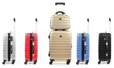 BlueStar Polycarbonate TwoPiece Cabin and Vanity Suitcase Set for £43.99 With Free Delivery