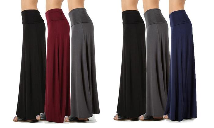 Women/'s Basic Girls Maxi Skirts 3 Pack