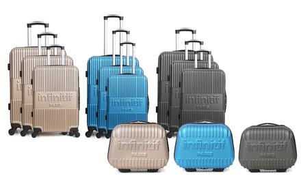 6c559c28335508 Vanity case et set 3 valises en ABS modèle Grenade et Rostock ...