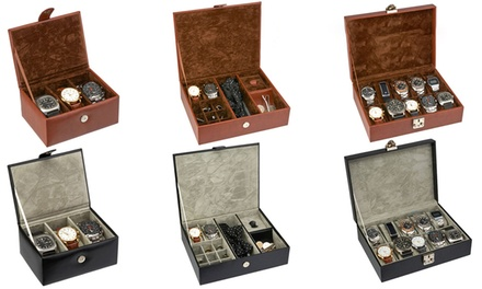 Hall & Sloane Men's Watch Box in Choice of Size and Colour