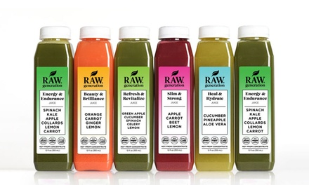 Three-, Five-, or Seven-Day Skinny Juice Cleanse from Raw Generation (70% Off)