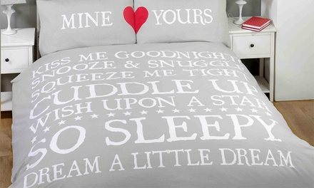 Rapport Home Mine/Yours Duvet Cover Set