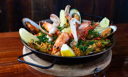 Choice of Paella with Wine for Two ($39) or Four People ($67) at The Upper Deck Bulimba (Up to $95 Value)