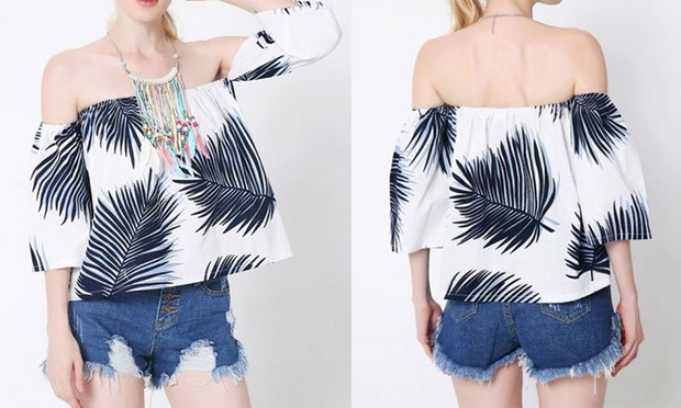 Boho Print Off Shoulder Top: One ($15) or Two ($25)