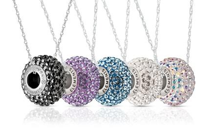 Sterling Silver Rondelle Necklace with Swarovski Elements