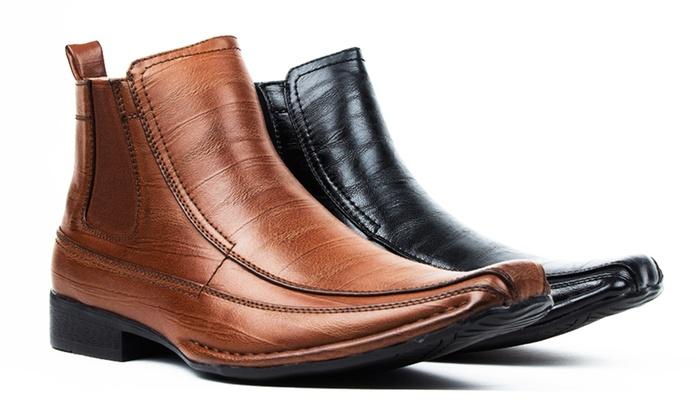 Bonafini Men's Chelsea Boots with Side Zipper