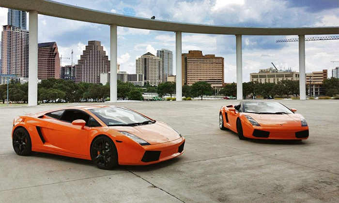 LCA - River City Community Church: Three Laps in a Ferrari or Lamborghini in Austin from LCA (50% Off). Four Dates Available.