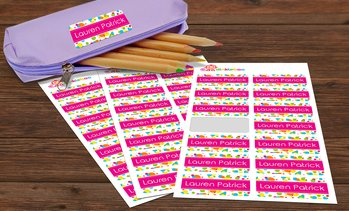 Up to 80% Off Personalized Name Label Bundles from Dinkleboo