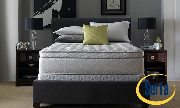 Serta Super Pillowtop Mattress Groupon Goods