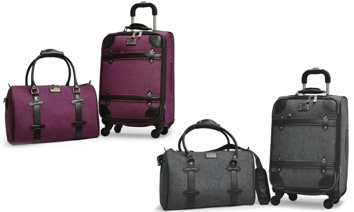 Adrienne Vittadini Luggage Set | Groupon Goods