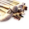 Champagne Gold Makeup Brush Set (25-Piece)