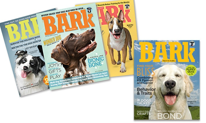 """""""The Bark"""" Magazine: One- or Two-Year Subscription to """"The Bark"""" Magazine (Up to 60% Off). Free Shipping."""