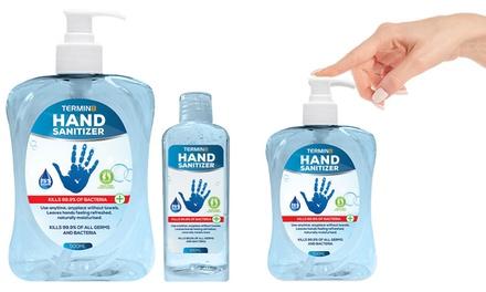 1 o 2 gel igienizzante mani Termin8 disponibile da 100 ml o 500 ml