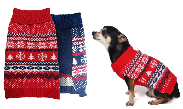American Kennel Club Fair Isle Holiday Dog Sweaters | Groupon