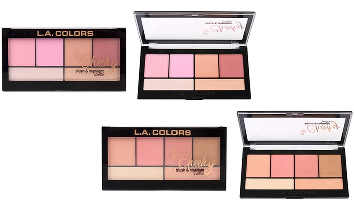 La Colors So Cheeky Blush And Highlight Makeup Palette Groupon