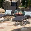 Winnetka Outdoor Chaise Lounge Chair and Table Set (3-Piece)