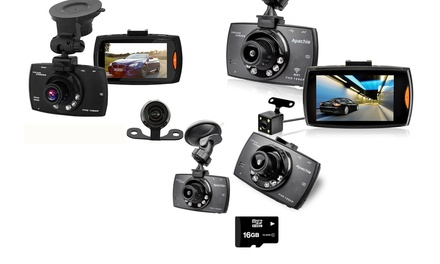 Apachie G30, G50 or G100 HD Front and Rear Dash Cam with Optional 16GB SD Card