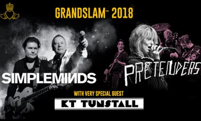Grandslam 2018 with Simple Minds, The Pretenders and KT Tunstall, 3 August - 9 September, 14 Locations (Up to 50% Off)