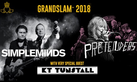 Grandslam 2018 with Simple Minds, The Pretenders and KT Tunstall, 3 August 9 September, 14 Locations