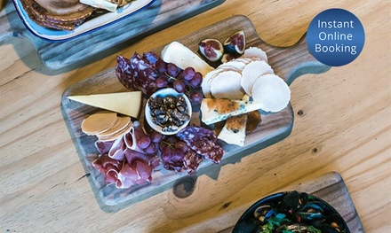TwoCourse Dinner with Wine for Two $65 or Four People $130 at Ruby Lane Wholefoods Up to $236 Value