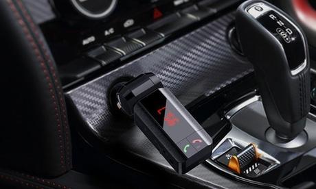 1 o 2 transmisores FM 4 en 1 con Bluetooth para coche