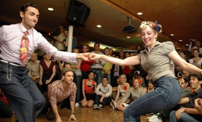 Swinging at the Sands East-Coast Swing Dancing for One, Two, or Four at Swinging at the Sands (Up to 33% Off)