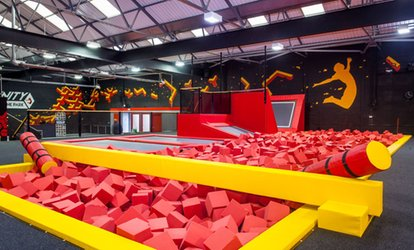 image for One-Hour Bouncing Session for Up to Four at Infinity Trampoline Park (Up to 48% Off)