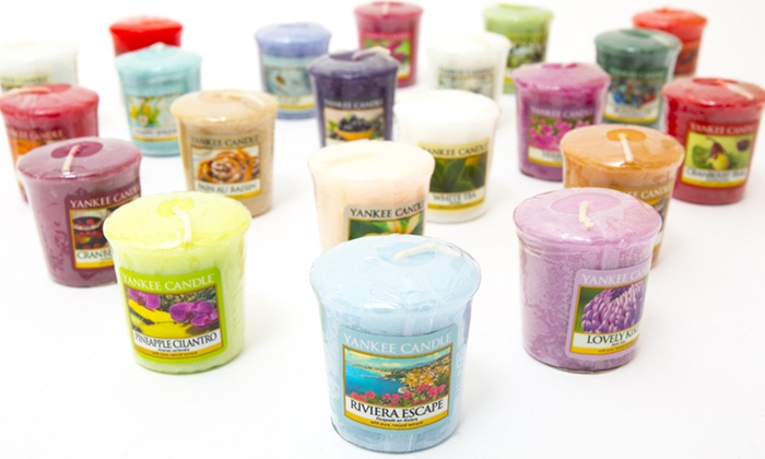 Groupon Goods Global GmbH: Lot de 3, 6, 9 ou 12 bougies parfumées Yankee Candle de 49 g