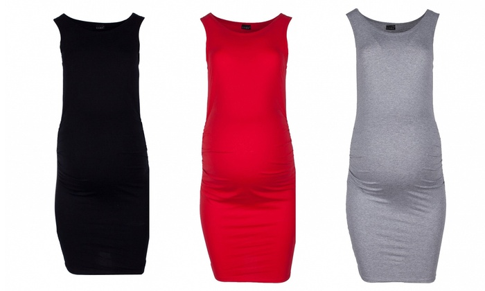 Groupon Goods Global GmbH: Sleeveless Maternity Dress in Choice of Colour