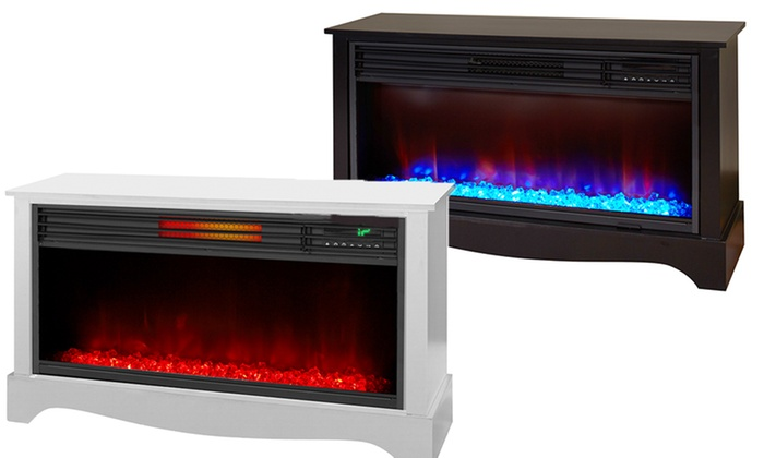 Lifesmart 36 Quot Infrared Fireplace Groupon Goods