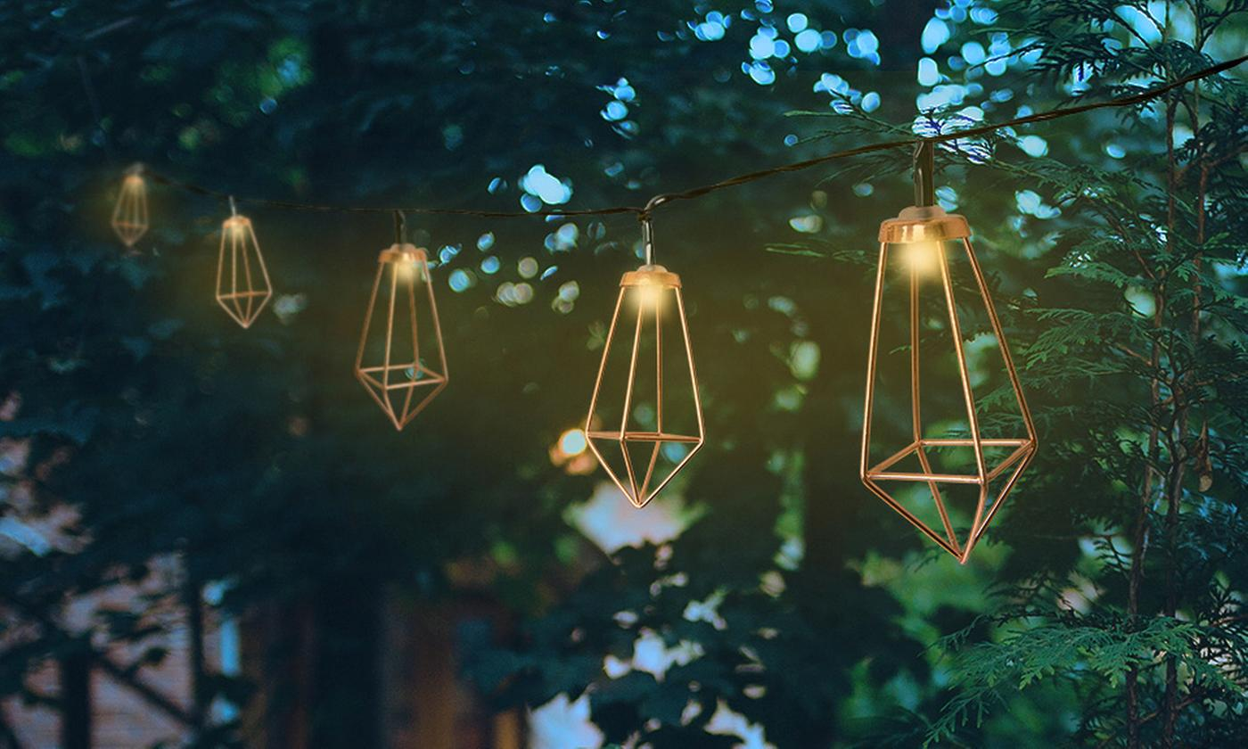 One or Two Sets of PMS International Haven Solar String Lights