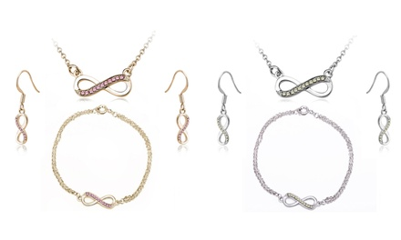 $19.95 Timothy Stone Earrings, Pendant and Bracelet Set made with Crystals from Swarovski®