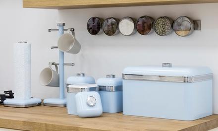 Swan retro kitchen storage set groupon goods for Kitchen set groupon
