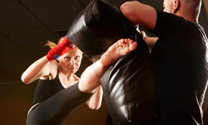 Highkicks Taekwondo - Multiple Locations: 5 or 10 Kickboxing Classes with Gloves at Highkicks Taekwondo (Up to 66% Off)