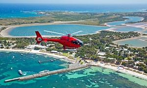 Rotorvation Helicopter: Rottnest Private Helicopter Flight - Two ($540) or Three People ($809) with Rotorvation Helicopter (Up to $1,620 Value)