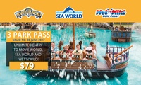$79 for Unlimited Entry to Movie World, Sea World and WetnWild Gold Coast (Up to $99 Value)