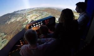 Brussels Flight Simulators: 60min. aan het stuur van een Cessna 172 vluchtsimulator voor 1 of 2 personen