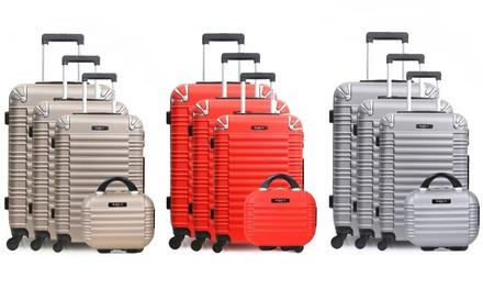 2ca83d5ff52870 Set 3 valises avec vanity case en ABS, modèle Lima C   Deals et ...