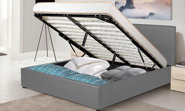 lit coffre prima avec sans matelas groupon shopping. Black Bedroom Furniture Sets. Home Design Ideas