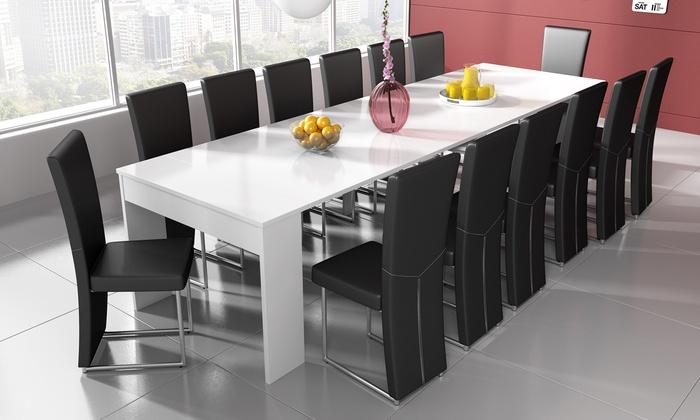 Eettafel Modern Uitschuifbaar.Uitschuifbare Eettafel In 3 Kleuren Groupon